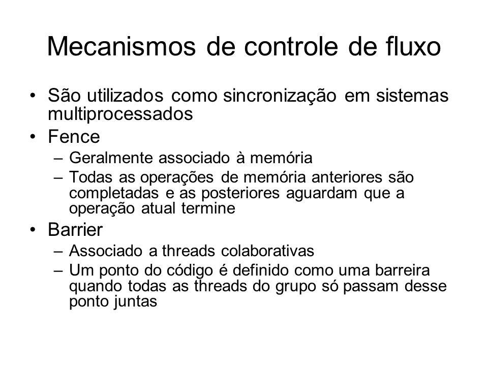 Mecanismos de controle de fluxo