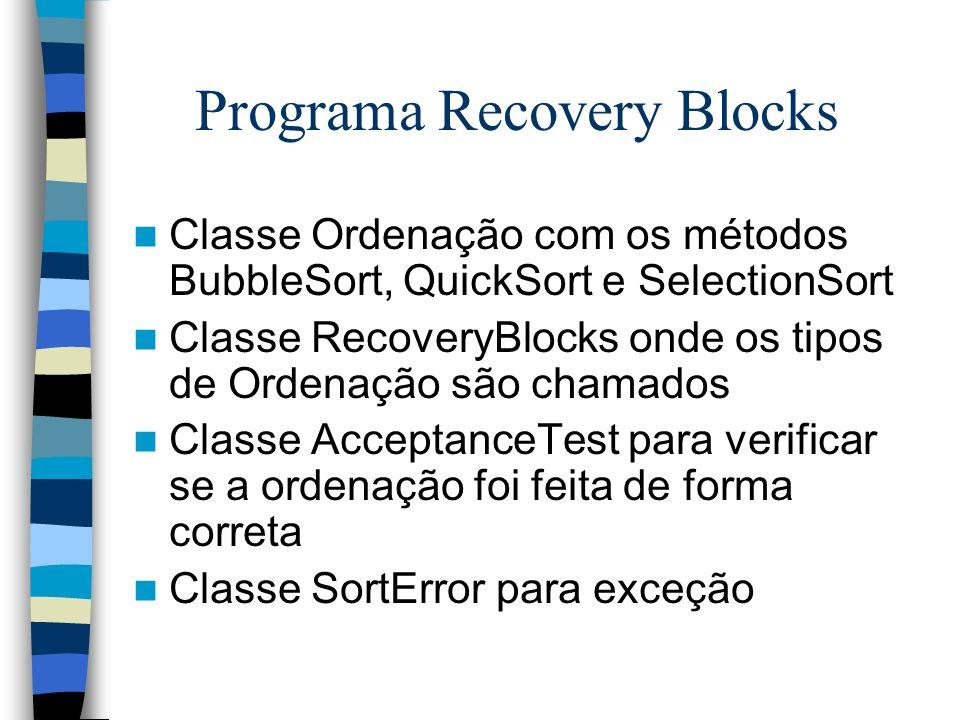 Programa Recovery Blocks