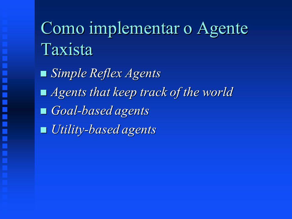 Como implementar o Agente Taxista
