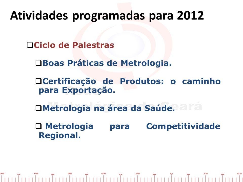 Atividades programadas para 2012