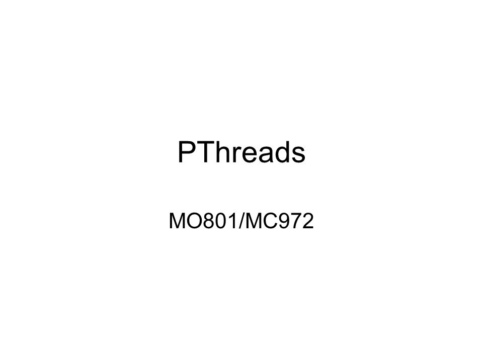 PThreads MO801/MC972