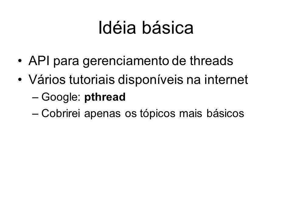 Idéia básica API para gerenciamento de threads