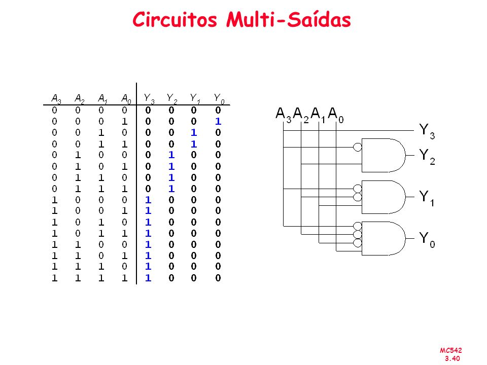 Circuitos Multi-Saídas