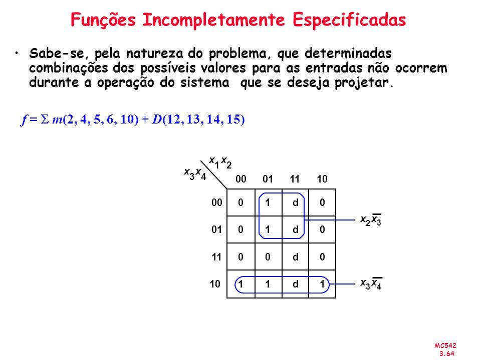 Funções Incompletamente Especificadas