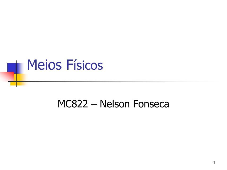 Meios Físicos MC822 – Nelson Fonseca