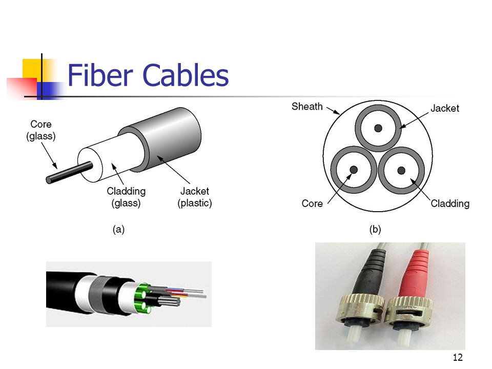 Fiber Cables (a) Side view of a single fiber.