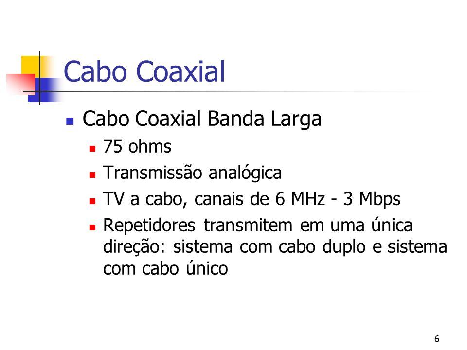 Cabo Coaxial Cabo Coaxial Banda Larga 75 ohms Transmissão analógica