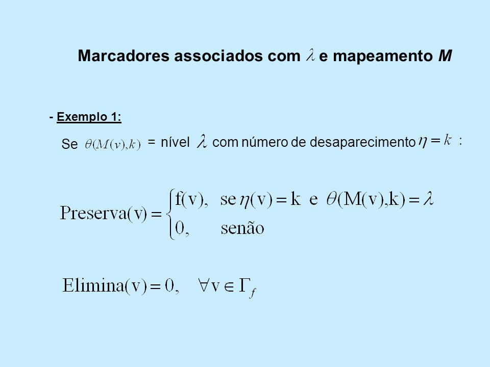 Marcadores associados com e mapeamento M