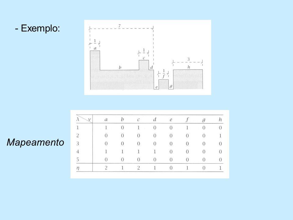 - Exemplo: Mapeamento