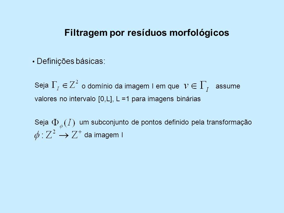 Filtragem por resíduos morfológicos