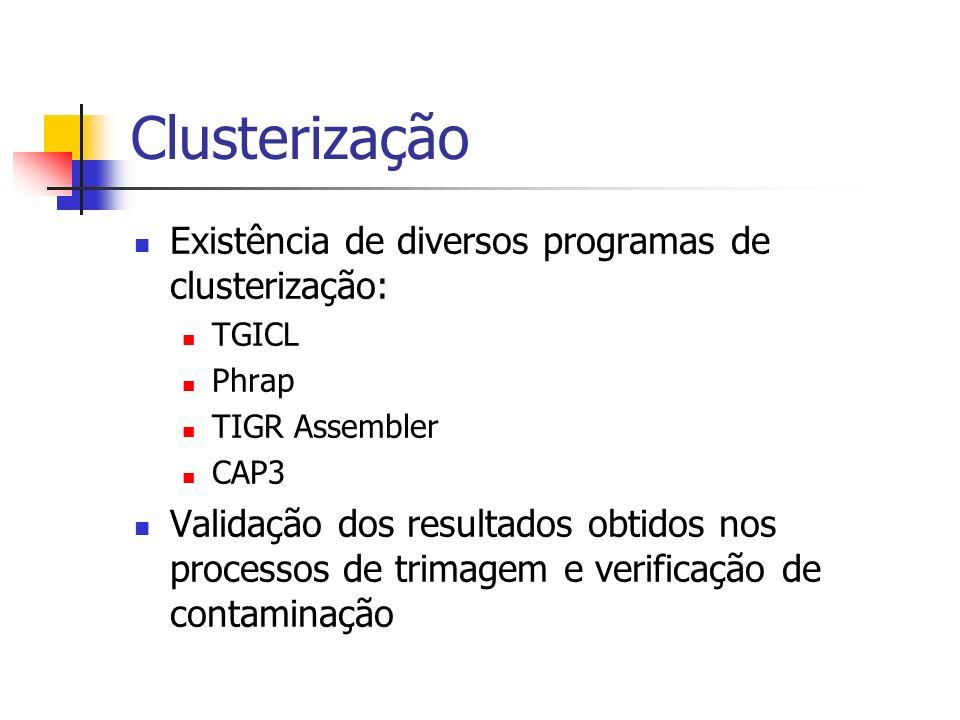 Clusterização Existência de diversos programas de clusterização: