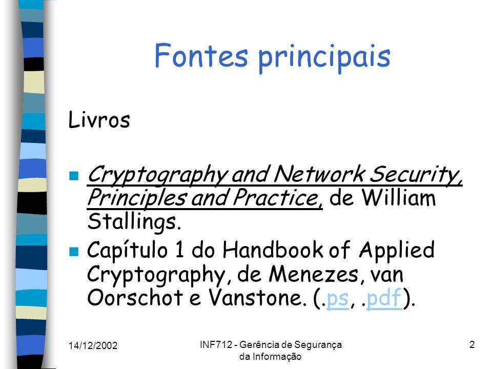 INF712 - Gerência de Segurança da Informação
