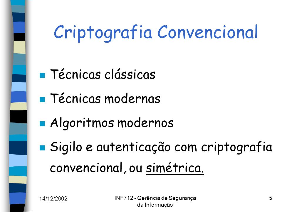 Criptografia Convencional