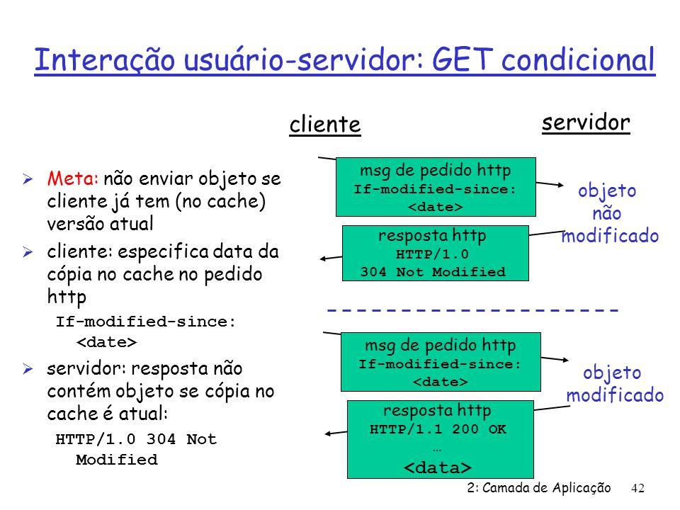 Interação usuário-servidor: GET condicional