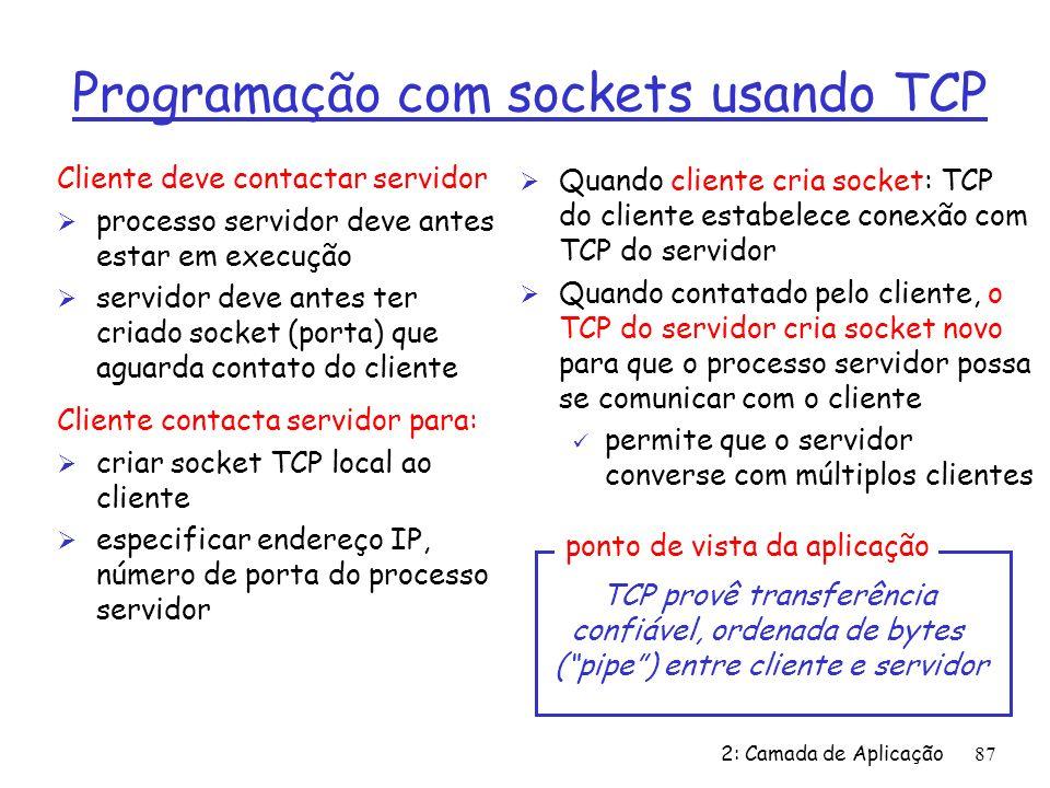 Programação com sockets usando TCP