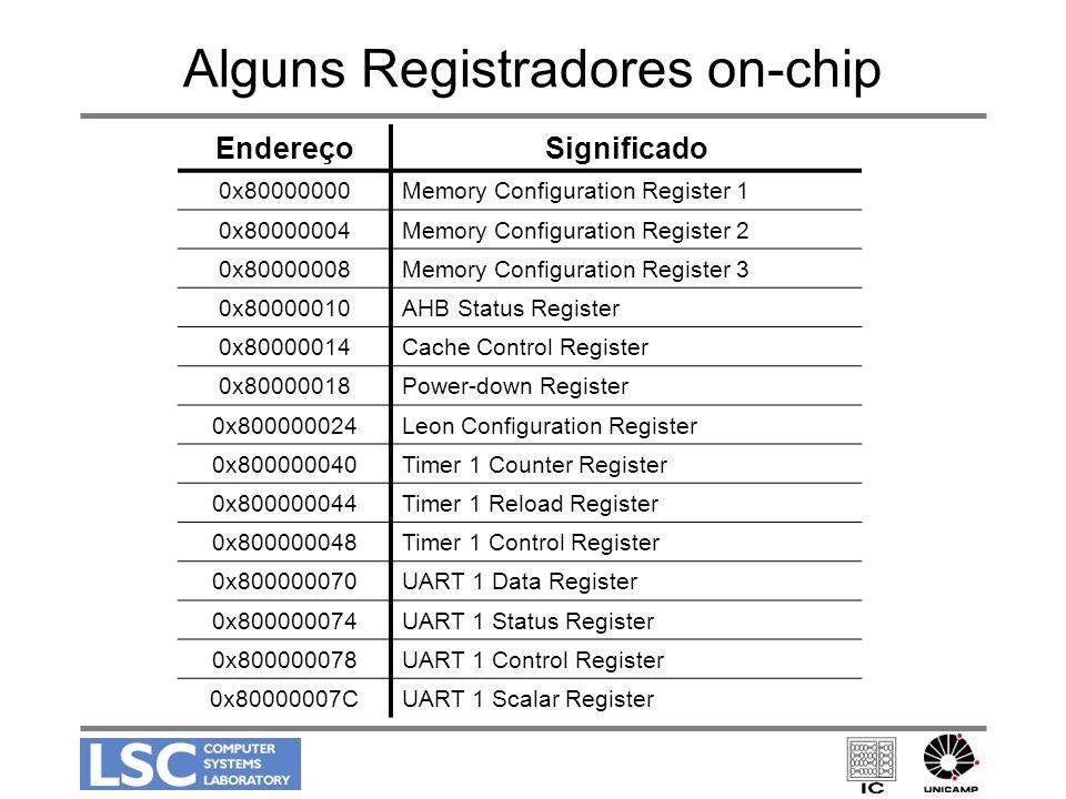 Alguns Registradores on-chip