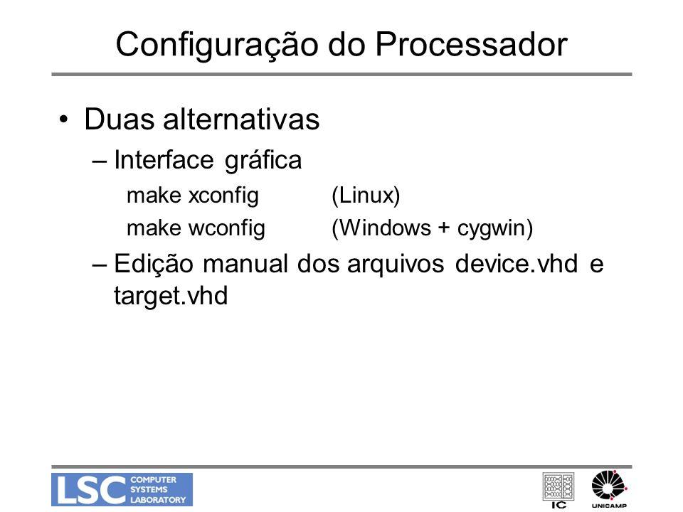 Configuração do Processador