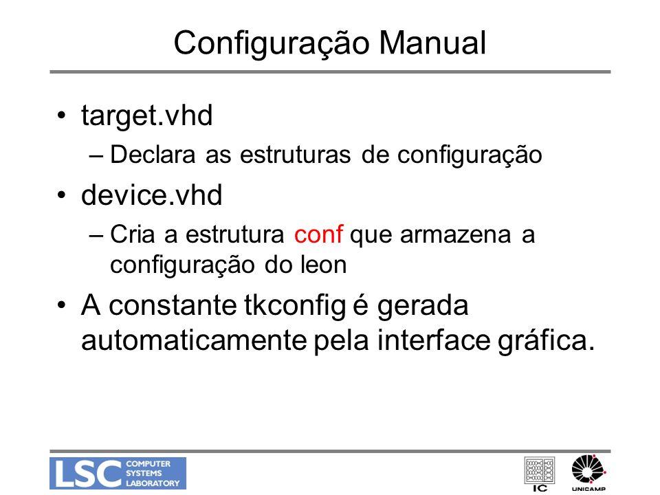 Configuração Manual target.vhd device.vhd