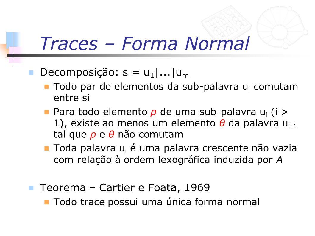 Traces – Forma Normal Decomposição: s = u1|...|um