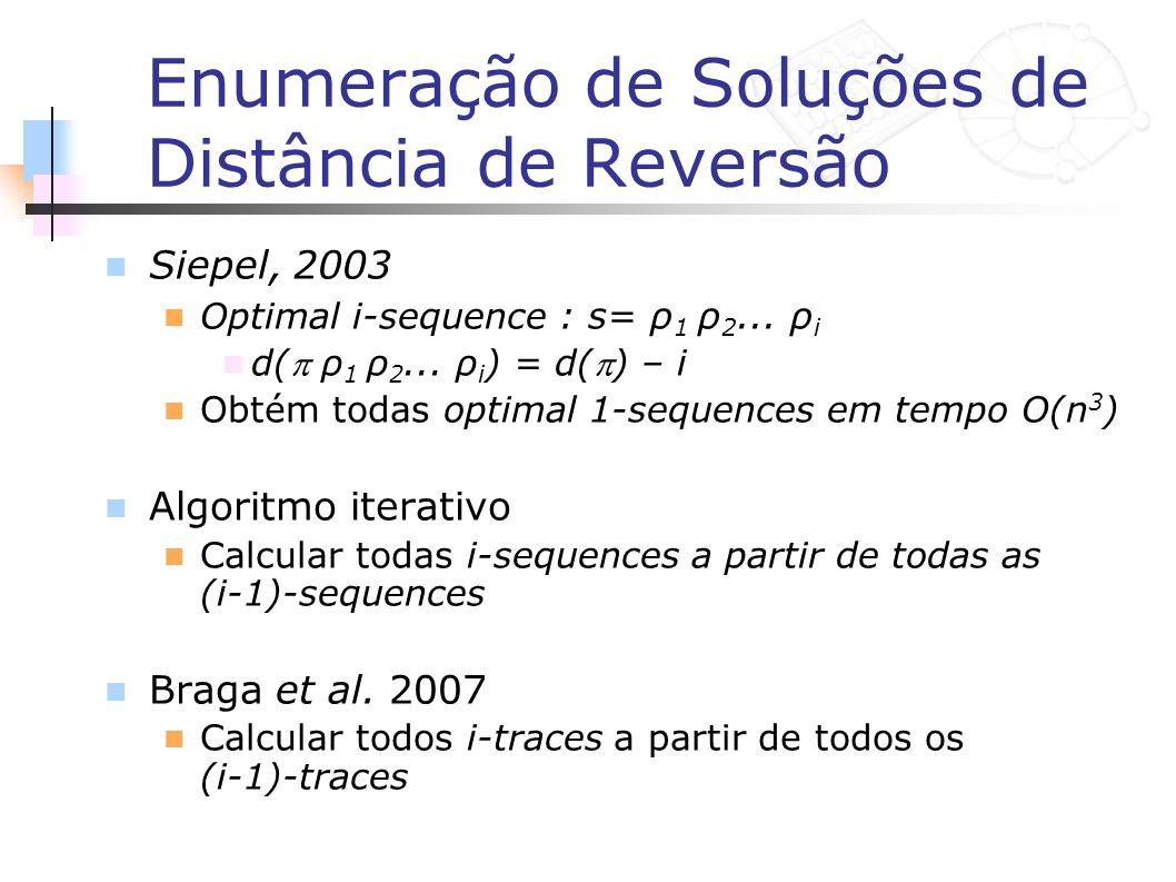 Enumeração de Soluções de Distância de Reversão