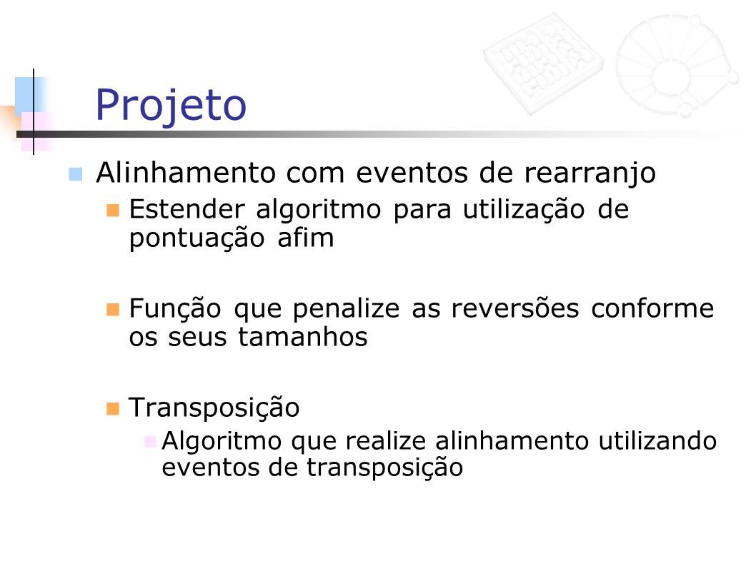 Projeto Alinhamento com eventos de rearranjo