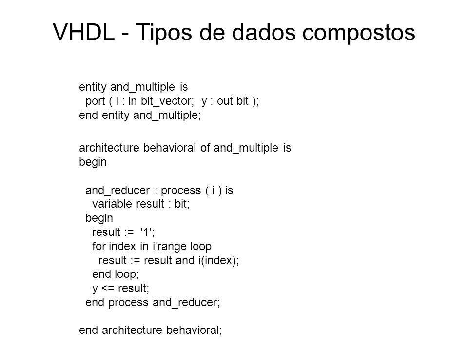 VHDL - Tipos de dados compostos