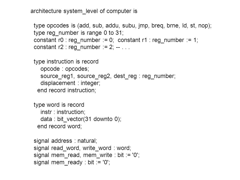 architecture system_level of computer is