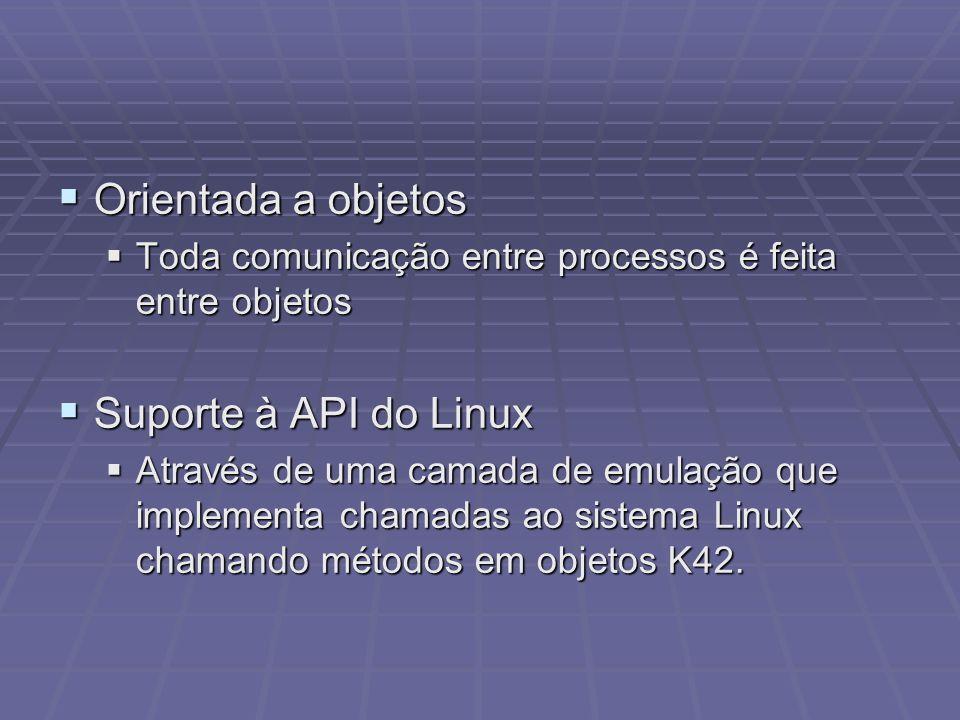 Orientada a objetos Suporte à API do Linux