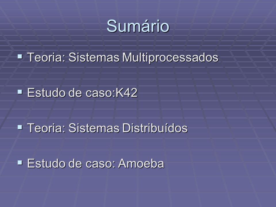 Sumário Teoria: Sistemas Multiprocessados Estudo de caso:K42