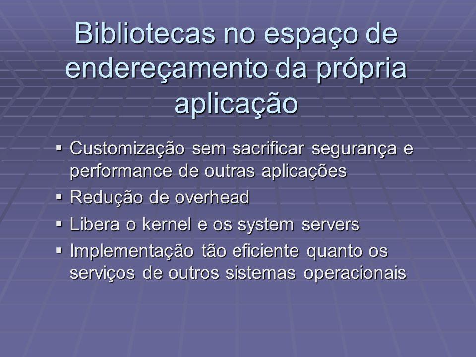 Bibliotecas no espaço de endereçamento da própria aplicação