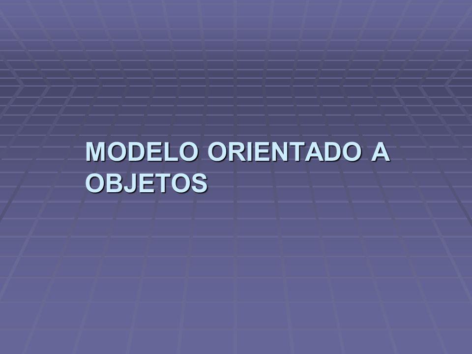 Modelo orientado a objetos