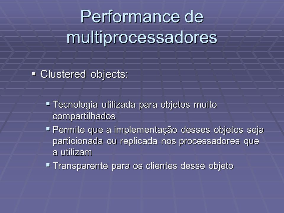 Performance de multiprocessadores