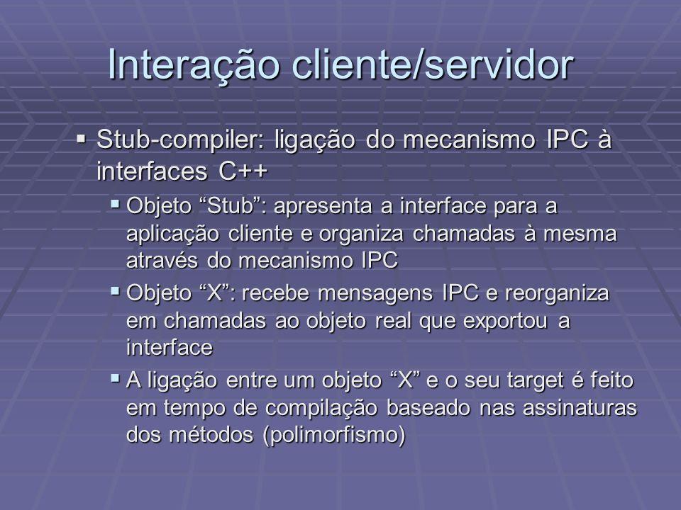 Interação cliente/servidor
