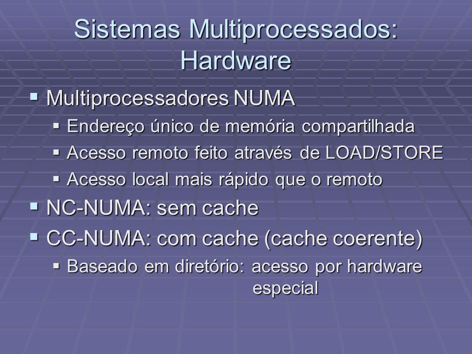 Sistemas Multiprocessados: Hardware