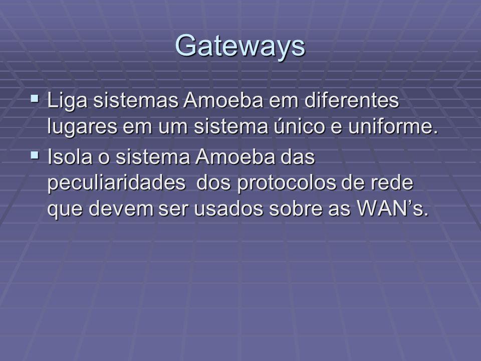Gateways Liga sistemas Amoeba em diferentes lugares em um sistema único e uniforme.