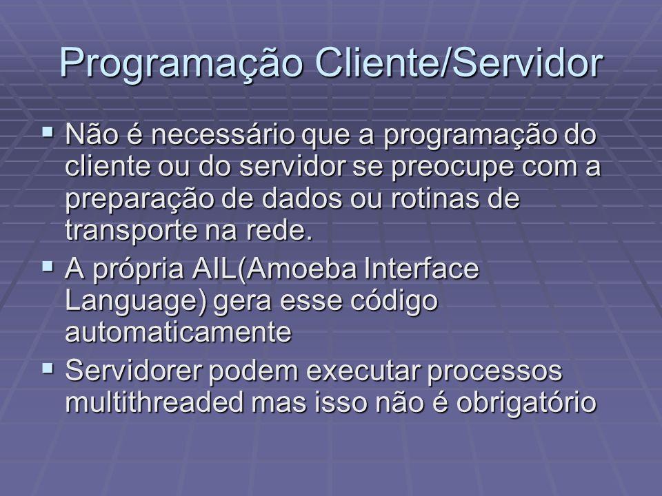 Programação Cliente/Servidor