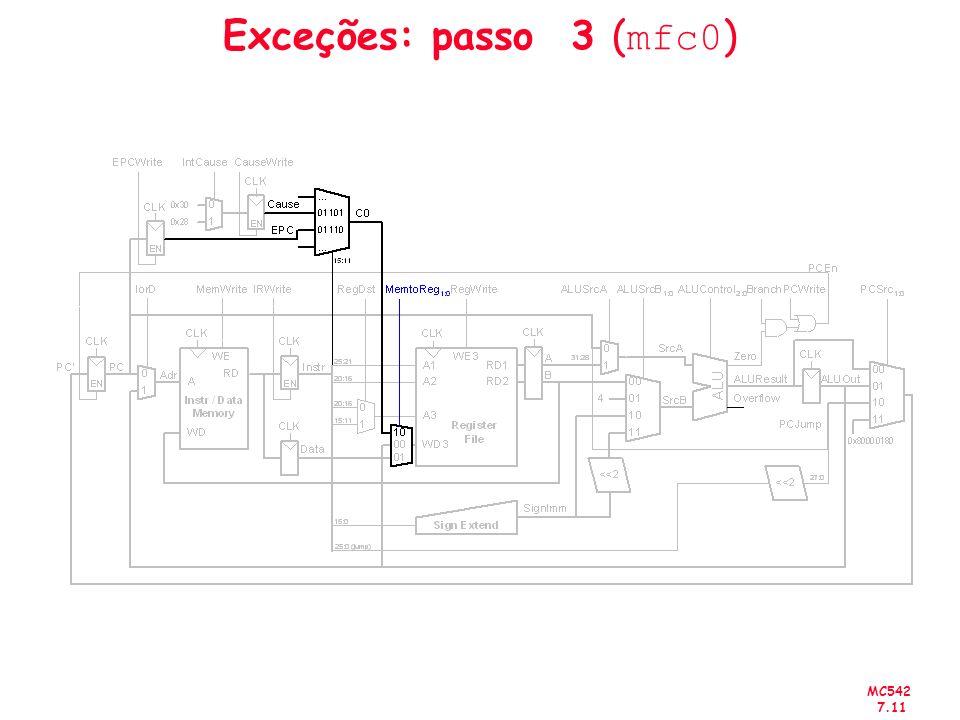 Exceções: passo 3 (mfc0)