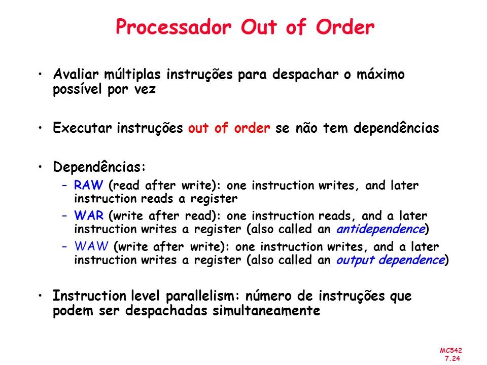 Processador Out of Order