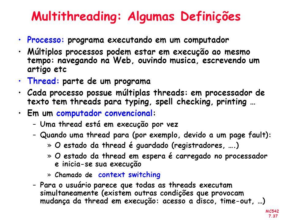Multithreading: Algumas Definições