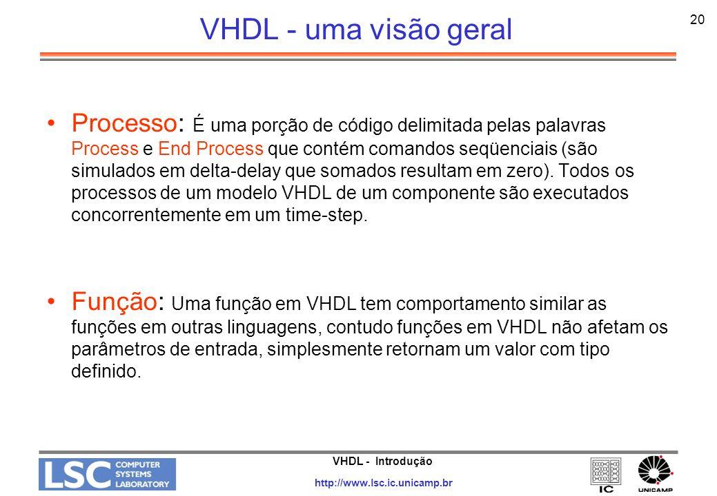 VHDL - uma visão geral 20.