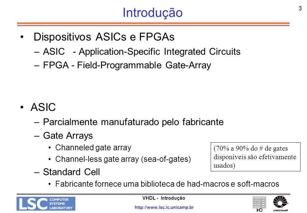 Introdução Dispositivos ASICs e FPGAs ASIC