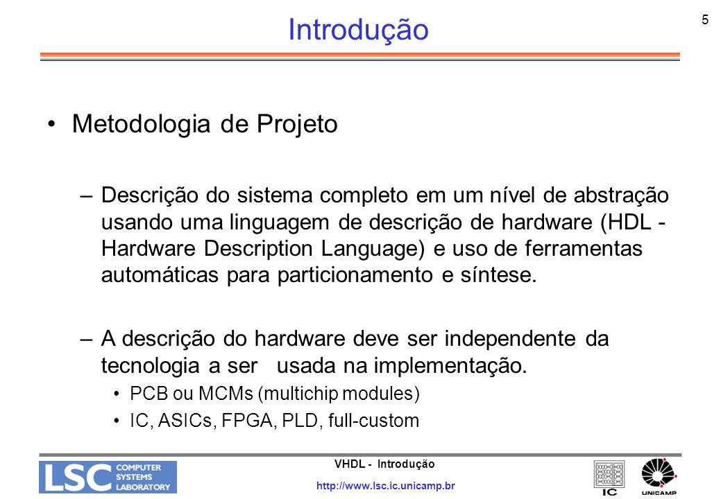 Introdução Metodologia de Projeto