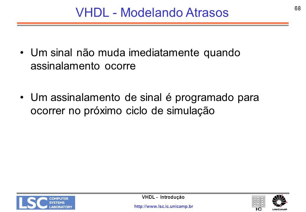 VHDL - Modelando Atrasos