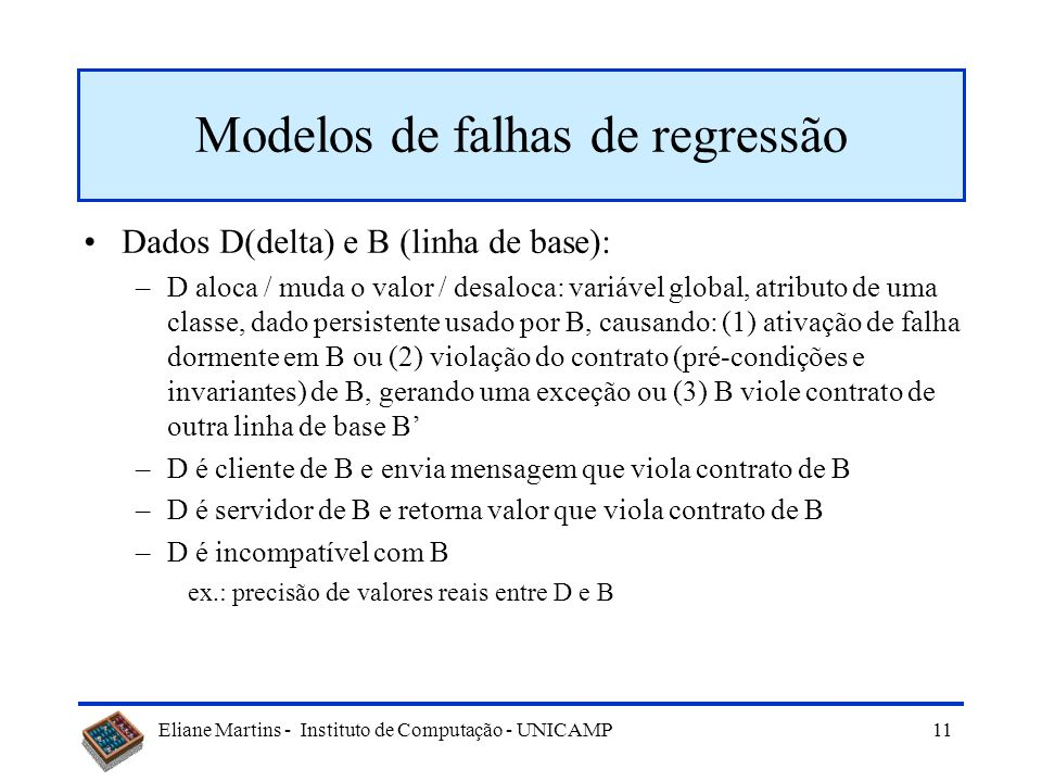 Modelos de falhas de regressão