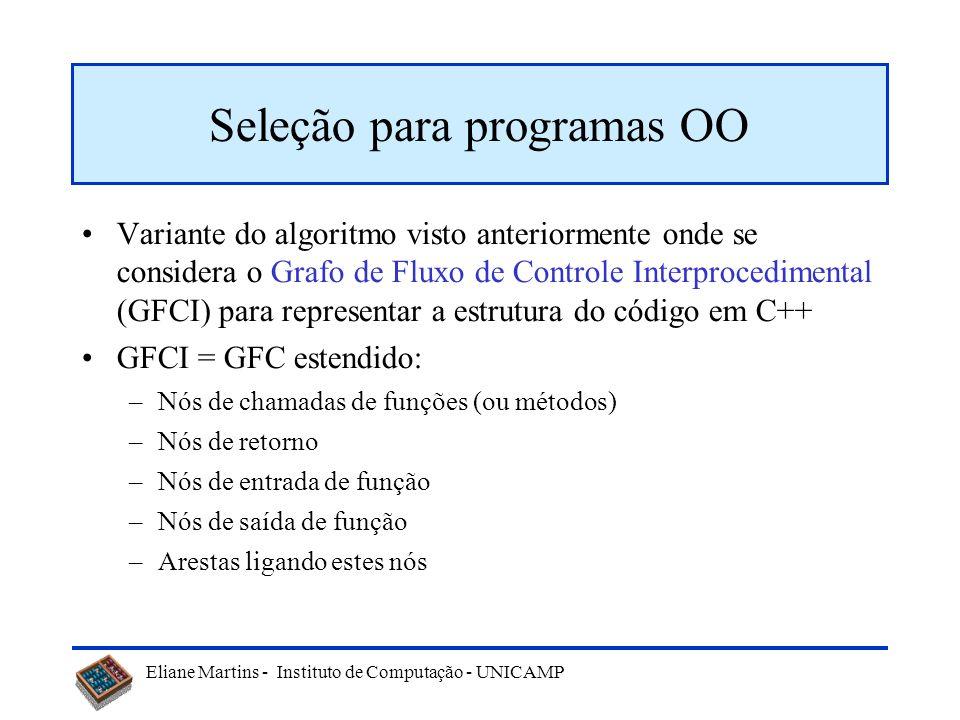 Seleção para programas OO