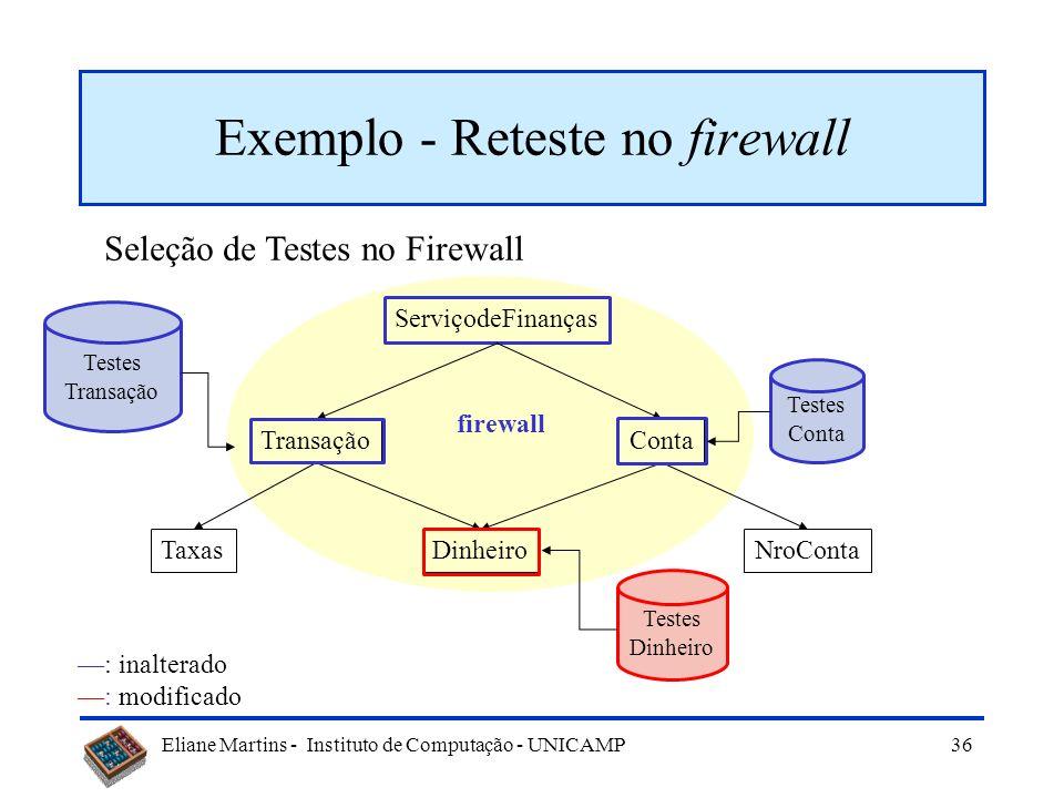 Exemplo - Reteste no firewall