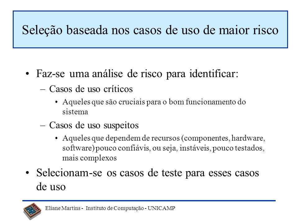 Seleção baseada nos casos de uso de maior risco