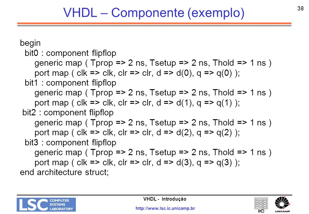 VHDL – Componente (exemplo)