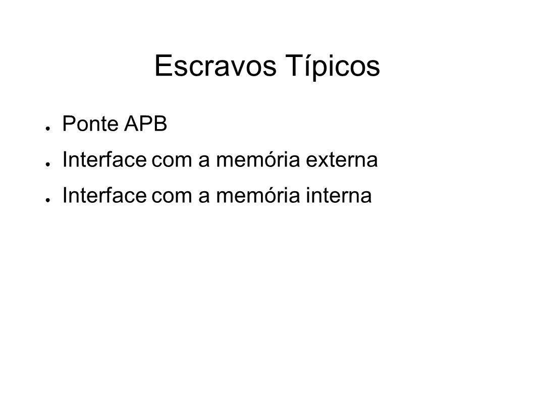 Escravos Típicos Ponte APB Interface com a memória externa