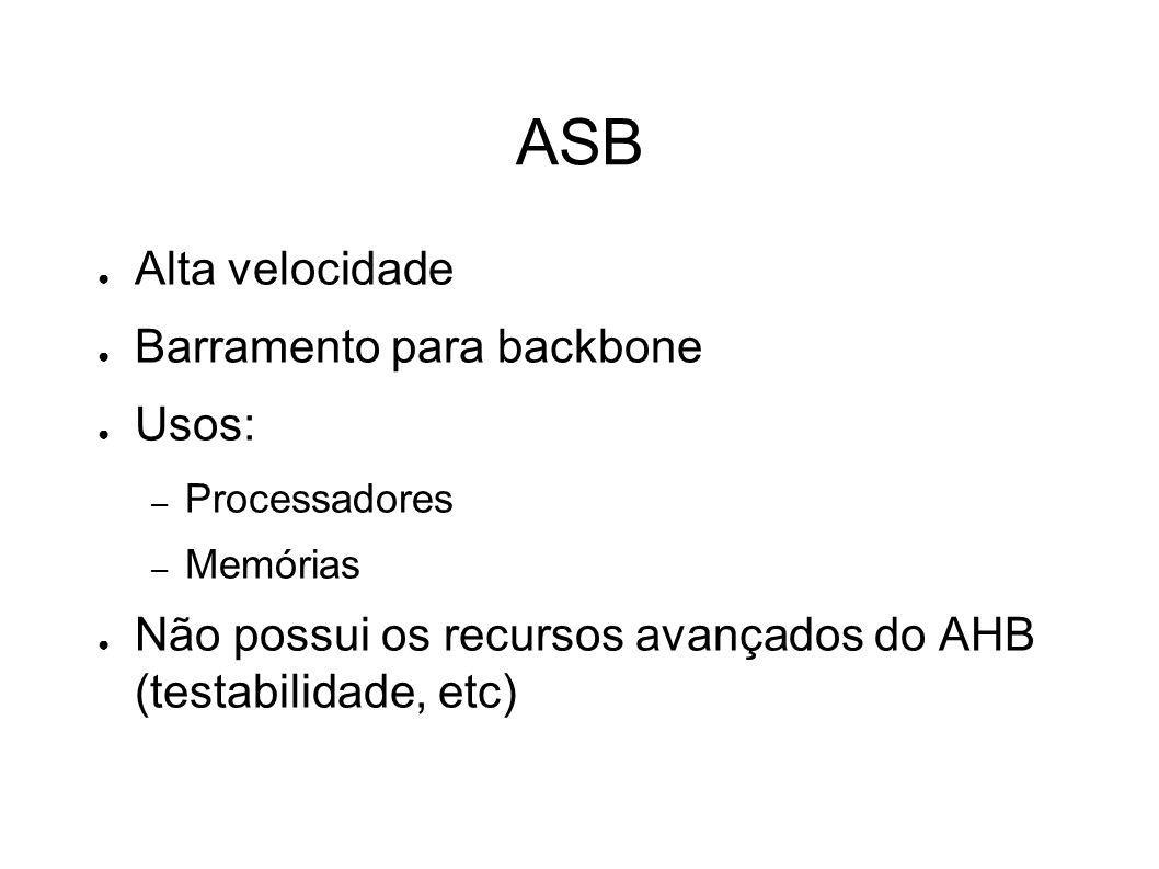 ASB Alta velocidade Barramento para backbone Usos: